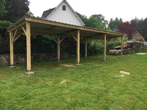 Abris de jardin carport for Abris jardin belgique